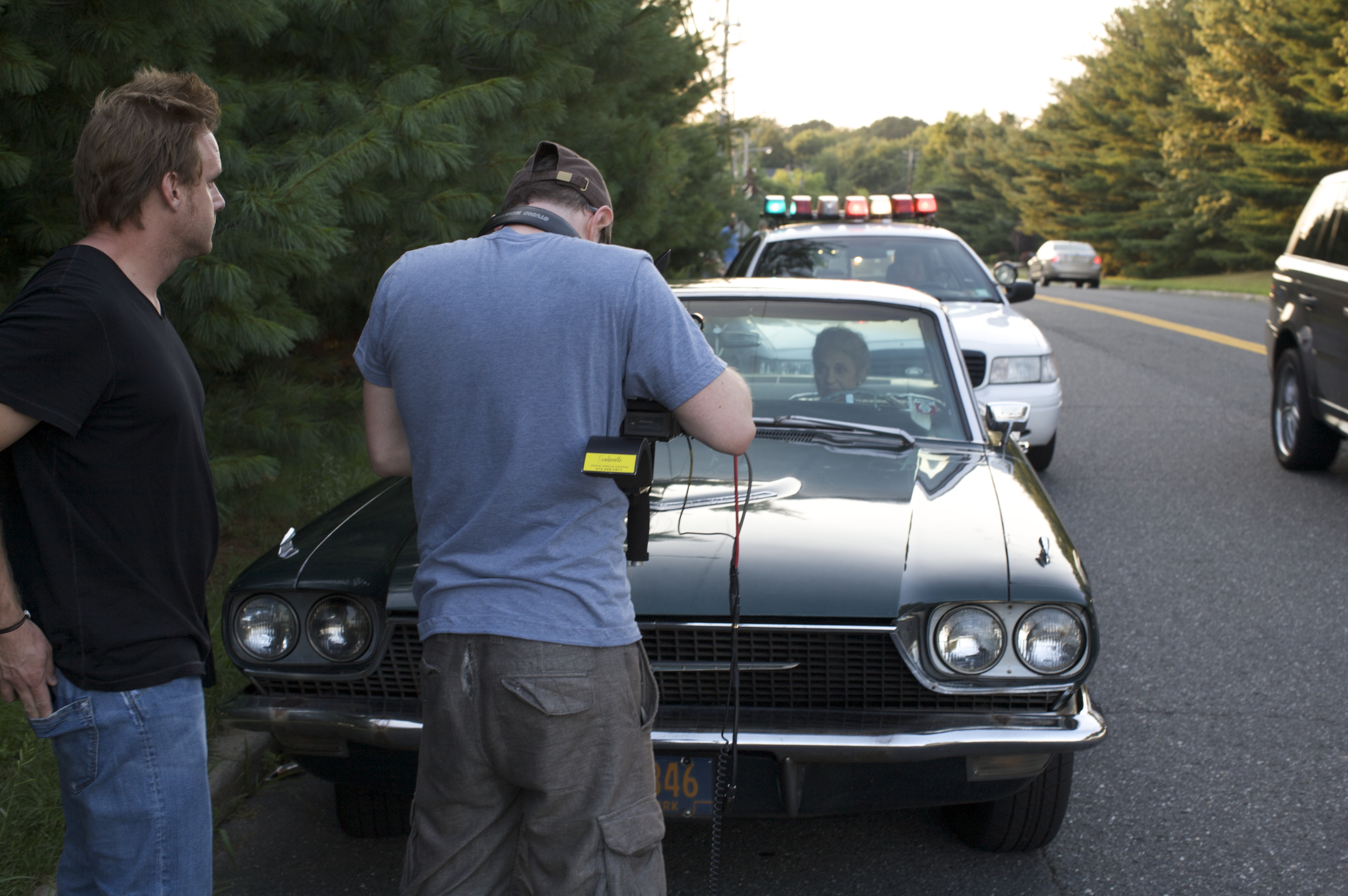 Adam Lynn cop car KOG BTS